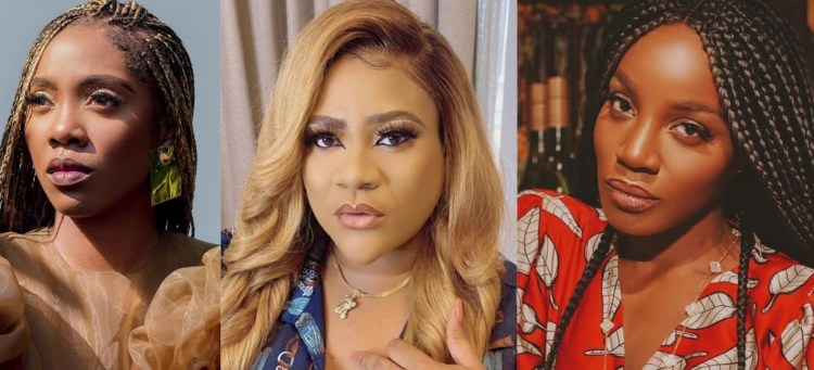 'Abuse me online,I will beat you' – Nkechi Blessing blows hot over Tiwa Savage and Seyi Shay's public fight (video)