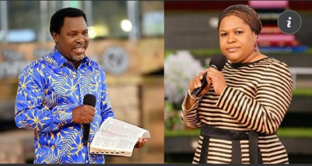 I saw him sitting on the chair unconsciously and helpless - Pastor TB Joshua's wife, Evelyn recounts his last moments