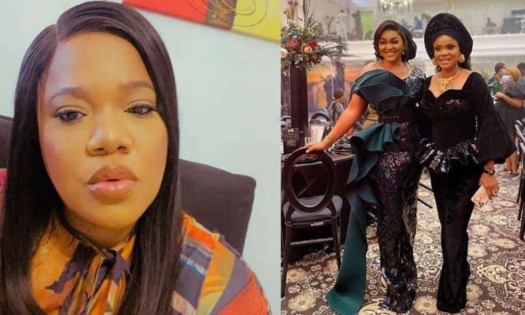 Actress Toyin Abraham reacts as Iyabo Ojo, and Mercy Aigbe settle Long time Beef between Them