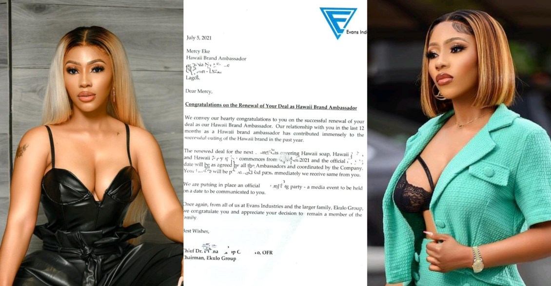 I BRAG DIFFERENTLY - Mercy Eke says As she Renew Her Ambassadorial Contract With Hawaii Soap From Greece (Photos)