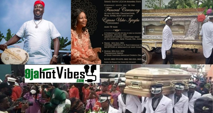 Photos And videos Of Obi Cubana mothers burial services at Oba
