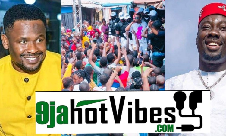 Zubby Michael storms Obi Cubana mothers burial With Bags Of Naira Notes, Goes Gaga While Spraying Money (video)