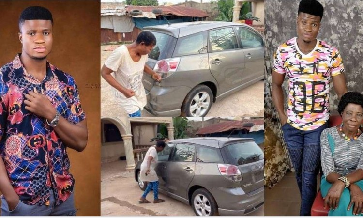 comedian, Zicsaloma Buys his mom a brand new car (video)
