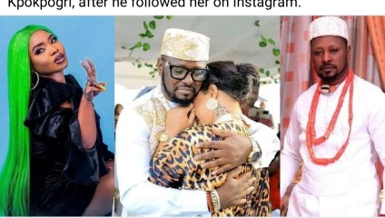 """""""Get off my page. Don't try me"""" – Actress, Halima slams Tonto Dikeh's ex-boyfriend, Prince Kpokpogri, after he followed her on Instagram"""