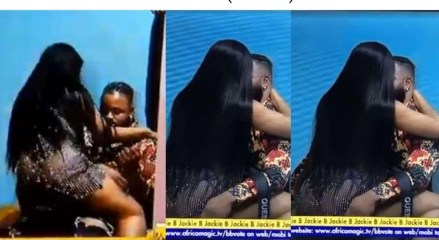 #BBNaija: WhiteMoney and Queen spotted kissing passionately (WATCH)