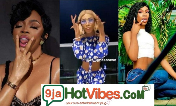 """James Brown is my spirit animal"""" — Toke Makinwa says in reaction to the crossdresser's new video"""