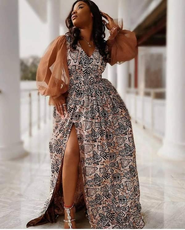 55 New and Classic Ankara Long Gown Styles for Weddings