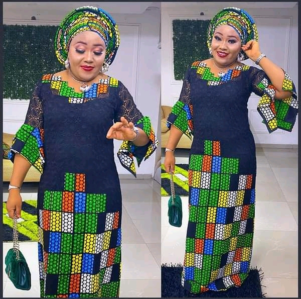 New and Classic Ankara Long Gown Styles for Weddings