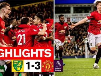 Goal highlight!! Norwich City 1 - 3 Manchester United