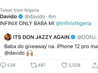 See - What Davido Said - After Don Jazzy Begged Him For An iPhone 12 Pro Max Give Away