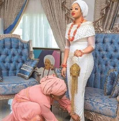 Dress Ooni wife - rocked for her Prince naming