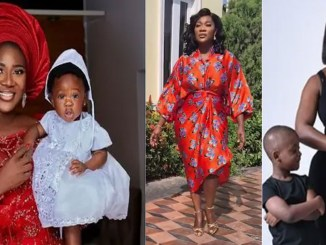 Mercy Johnson says as she imitates runway models
