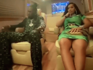 Burna Boy and his girlfriend, rapper Stefflon Don enjoy night out in Lagos (video)