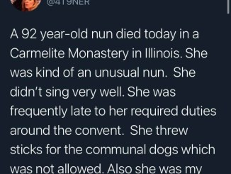 Man celebrates his mother who became a nun after having 10 children
