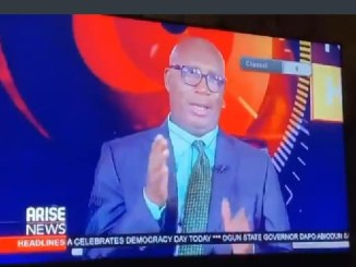 Newscaster expresses disappointment after President Buhari's democracy day speech (video)