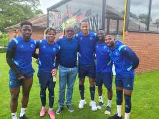 Pinnick hails Eagles' strength-in-depth, watches Etebo train at Watford