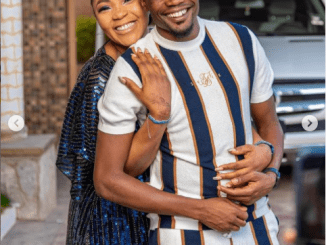 Super Eagles captain, Ahmed Musa and his wife Juliet celebrate their 4th wedding anniversary