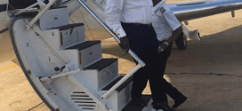 Emami Ayiri arrives Abuja in a private jet, meets Bola Tinubu, Lai Mohammed – Pictures