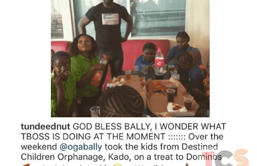 Tunde Ednut blasts TBoss with a picture of Bally