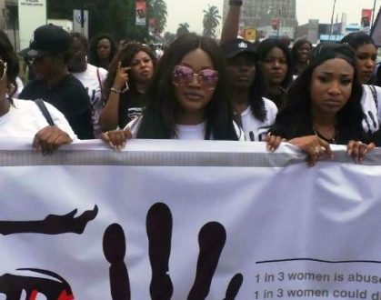 Tonto Dikeh, Mercy Aigbe, others join Olori Wuraola to campaign against Domestic Violence (Photos)