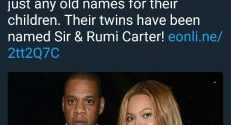 Guess what Beyonce and Jay Z just named their twins