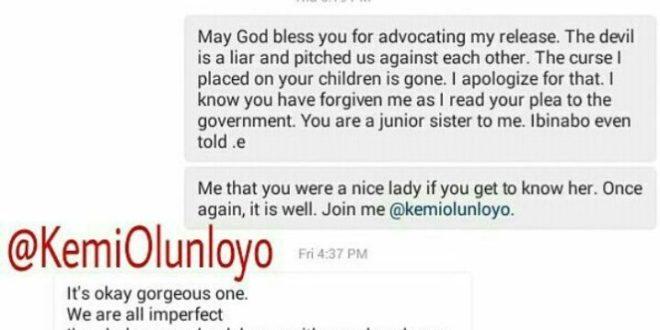 Kemi Olunloyo and actress Georgina Onuoha reconcile