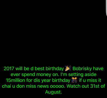 See the amount Bobrisky claims he is setting aside for his birthday next month