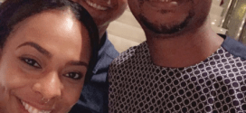 TBoss and Miyonse pictured with Nathaniel Bassey
