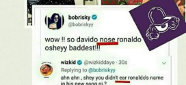 Have you laughed today? Wizkid's epic reply to Bobrisky (Photo)