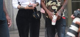 Amber Rose steps out in sweats for stroll with boyfriend 21 Savage (Photos)