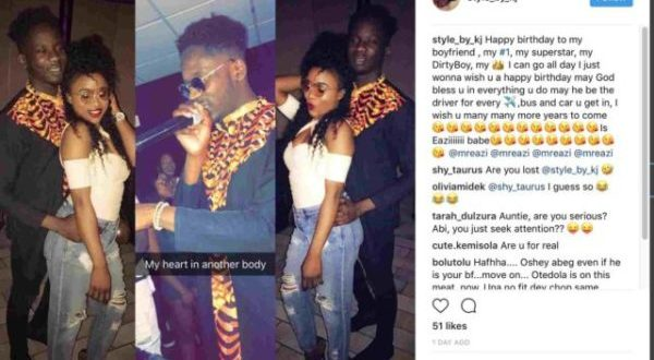 This mystery lady is claiming Mr. Eazi is her boyfriend, sends him birthday shout out