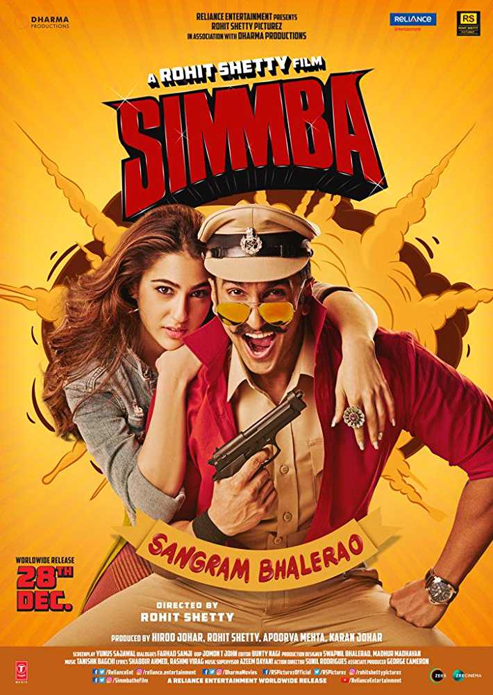 FRESH MOVIE :Simmba (2018) – Bollywood Movie