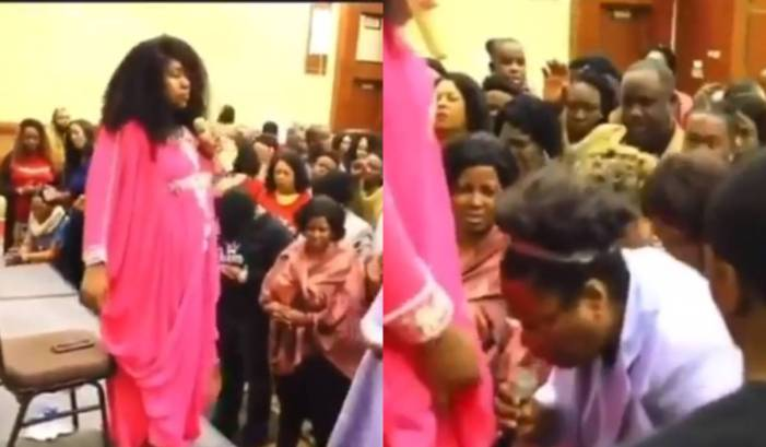 Evangelist Princess Belemzy walks out on congregation after member asks for anointing to open her own church (Video) 1