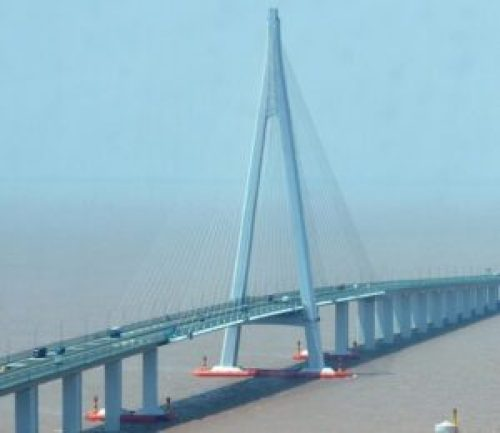 Hangzhou Bay Bridge - one of the longest bridges in the world