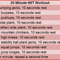 Example of HIIT workouts