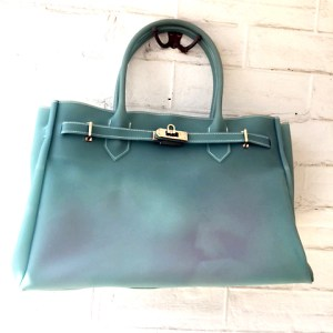 Birkin Bag lookalike aqua