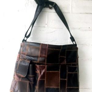 retro brown patchwork