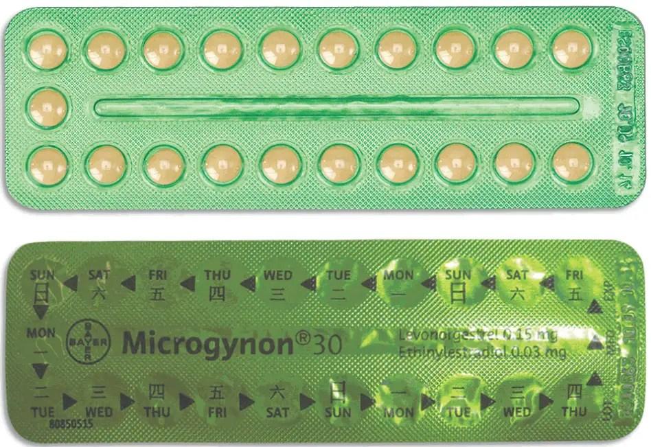 حبوب منع الحمل ميكروجينون 30
