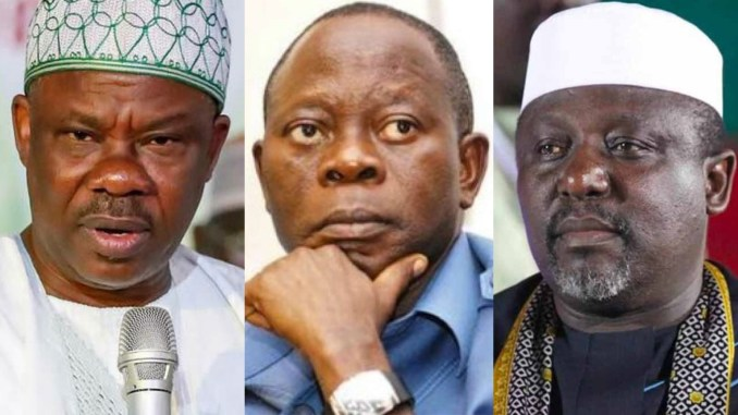 Image result for Amosun, Okorocha cannot stop APC from winning Ogun, Imo – Oshiomhole
