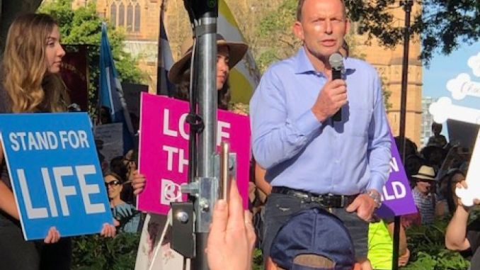 Former Australian Prime Minister Joins Anti Abortion Protest in Sydney
