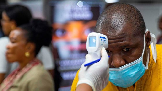 A man being tested for Corona virus