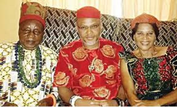 IPOB Leader Mazi Nnamdi Kanu and His later father and mother