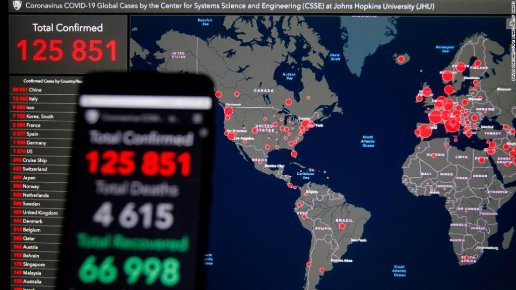 Latest update on the spread of the coronavirus around the world