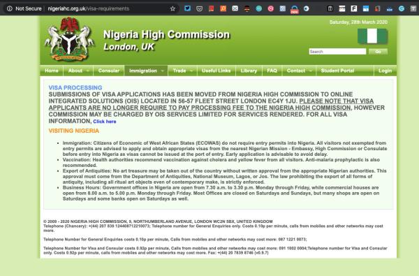 Nigerian High Commission UK