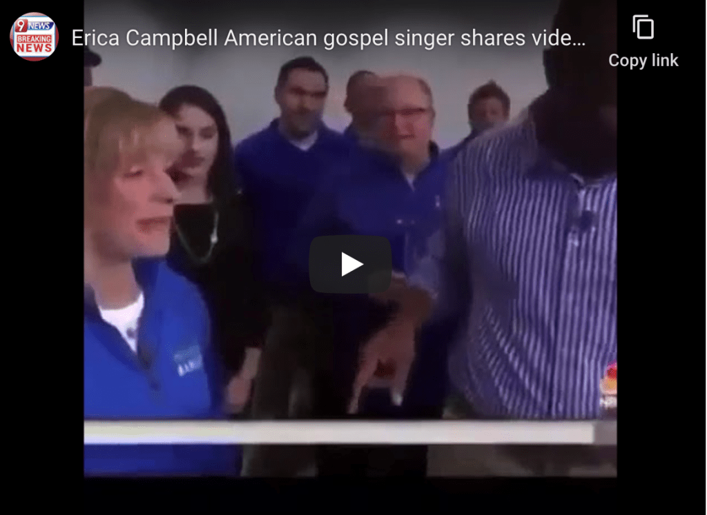 Erica Campbell American gospel singer shares video showing people receiving the Mark of the Beast amidst COVID-19