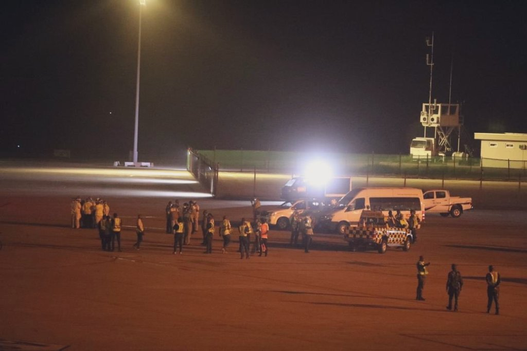 Air Peace chattered flight evacuating 253 stranded Nigerians from UK has arrived Lagos - 3