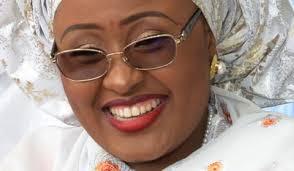 Aisha Buhari laughs