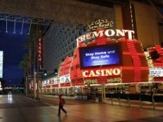 Las Vegas has shut down all its casinos and its iconic strip is like a ghost town.Source:AP
