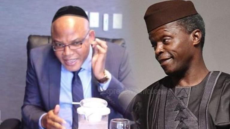 Nnamdi Kanu and Yemi Osinbajo