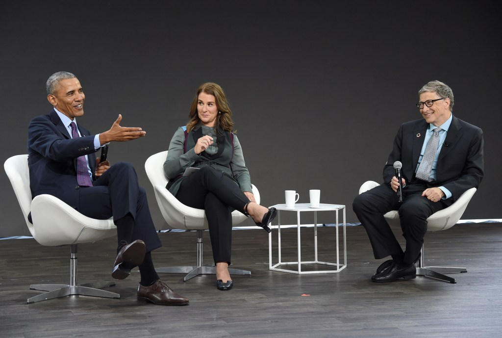 Obama and Bill and Melinda Gates